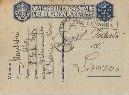 MARINA MILITARE WWII FRANCHIGIA DISTACCAMENTO ROMA 1942 X LIVORNO - 1900-44 Vittorio Emanuele III