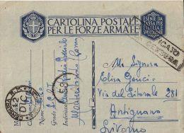 MARINA MILITARE WWII FRANCHIGIA CENTRO RADIO SPECIALE 1942 X ANTIGNANO - Correo Militar (PM)