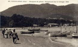 CAVALAIRE Barques De Pêche, Baigneurs Sur Le Rivage (C8836) - Cavalaire-sur-Mer