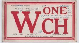 Carte QSL GRAHN BROCKTON (Mass.) - Used Radio Card 1935 - Svatiska - Croix Gammée - Radio