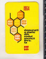 Romanian Small Calendar - 1964 CEC Bank - Calendriers
