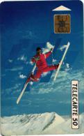 TELECARTE 50 U. SKI ARTITIQUE. PUCE SOL 3.   REF T 17 - Sport