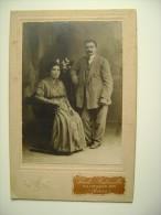 BARI FOTO ANTONELLI   UOMO  MAN FEMME LADY  COPPIA    20   X   13       SU CARTONCINO  ARCH. 160 - Antiche (ante 1900)