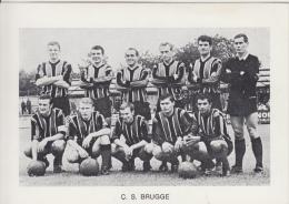 Voetbal Voetbalploeg    C.S. Brugge           Nr 1802 - Football