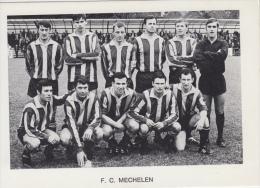 Voetbal Voetbalploeg   F.C. Mechelen         Nr 1809 - Fútbol