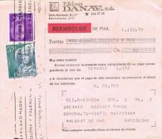 R 968. Tarjeta Contra Reembolso BARCELONA 1972. Ediciones Danae - 1971-80 Storia Postale