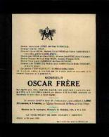 Faire-part Mortuaire FRERE Oscar (1883-1928) Né Et Mort à GILLY - Obituary Notices