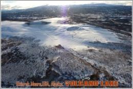 Ukinrek Maars,USA, Alaska. Volcano Lake Postage Card 3268-16 - Postkaarten