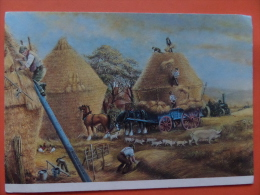 45213 POSTCARD: FARMING IN BYEGONE DAYS By Dudley Pout:  THE LAST LOAD.  SIZE: 17.5 X 12 Cm. - Agriculture