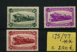 1934  Locomotive 175/177 **  Postfris  Sans Charnière  Cote 300 Euros (Cob 2019) - 1923-1941