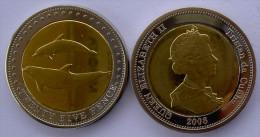 TRISTAN DA CUNHA 2008 25 PENCE BIMETALLICA DELFINI FDC UNC - Monete