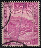 ~~~ Pakistan 1948 Dominion -  Khaiber Pass - Perf 14 X 13½  - Mi. 41 A  (o) Used - Cat. 24.00 Euro ~~~ - Pakistan