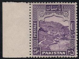 ~~~ Pakistan 1948 Dominion -  Khaiber Pass - 25 Rupees - Perforation K 12  - Mi. 43 C ** MNH  ~~~ - Pakistan