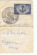 Timbre 15 F     Tampon XIV Congrés Int   Chirurgie 28 Sept  1951 - Marcophilie (Lettres)
