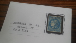 LOT 252501 TIMBRE DE FRANCE OBLITERE N�46B VALEUR 25 EUROS TB