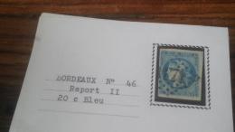 LOT 252505 TIMBRE DE FRANCE OBLITERE N�46B VALEUR 25 EUROS TB