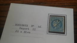 LOT 252508 TIMBRE DE FRANCE OBLITERE N�46B VALEUR 25 EUROS TB