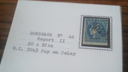 LOT 252530 TIMBRE DE FRANCE OBLITERE N�46B VALEUR 25 EUROS TB