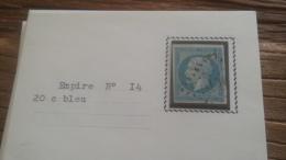 LOT 252574 TIMBRE DE FRANCE OBLITERE N�14 TB