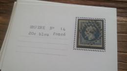 LOT 252583 TIMBRE DE FRANCE OBLITERE N�14 TB