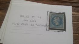 LOT 252585 TIMBRE DE FRANCE OBLITERE N�14 TB