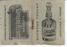 76 Fécamp Calendrier 1904 Plié 57x80 Publicité Liqueur Suprême Fécamp - Calendriers