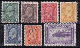 Canada 1932-1933 N°Y.T. :  161 à 167 Obl. - 1911-1935 Reinado De George V