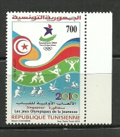 2010-Tunisia-Tunisie-Olympic Games Of Youth-Jeux Olympiques De La Jeunesse-Singapour 2010-Complete Set  MNH** - Summer 2010 : Singapore (Youth Olympic Games)