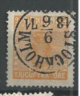1858 USED  Sweden, Sverige, Schweden, Gestempeld - Usati
