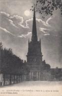 Cp , 85 , LUÇON , La Cathédrale  , Flèche De 75 M. De Hauteur - Lucon