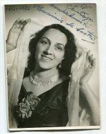 "AUTOGRAFO DÉDICACÉ AUTOGRAPHED ""HERMINIA DE CASTRO"" ACTRIZ ESPAÑOLA 1953 ORIGINAL SIGNATURE EXCLUSIVE NON CIRCULEE GECKO - Autographes"