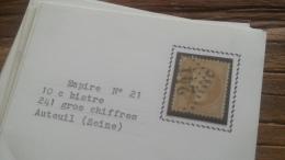 LOT 252601 TIMBRE DE FRANCE OBLITERE N�21 TB