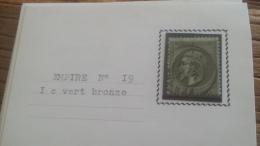 LOT 252615 TIMBRE DE FRANCE OBLITERE N�19 TB