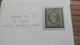 LOT 252620 TIMBRE DE FRANCE OBLITERE N�19 TB