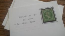 LOT 252647 TIMBRE DE FRANCE OBLITERE N�20 TB