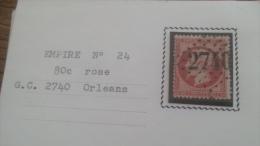 LOT 252662 TIMBRE DE FRANCE OBLITERE N�24