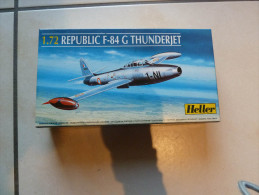 Maquette Heller, Avion Republic F-84G Thunderjet / Flugzeg - Avions