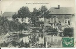 CPA ALLIGNY 58,  Moulin De Champ-Commeau ( Vieilles Charrettes) 1907 - Tannay