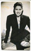 "AUTOGRAFO DÉDICACÉ AUTOGRAPHED ""OLGA ALCOREUX"" CIRCA 1949 ACTRESS ORIGINAL SIGNATURE EXCLUSIVE NON CIRCULEE GECKO - Autographes"