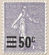 Type Semeuse Lignée (200) Surchargé. 50c. Sur 60c. Violet (200) Y223 - Frankreich