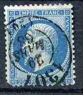 Cad BUREAU DE PASSE 1307 Sur YT N°22  /  Côte 90€  Superbe - 1862 Napoleon III