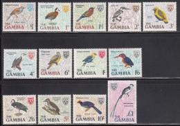 Gambia MNH Scott #215-#227 Set Of 13 Birds - Ducks, Kingfishers, Woodpecker, Etc - Gambie (1965-...)