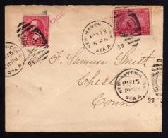 1889 - EEUU - Carta Circulada . Franqueo De 4centavos - - 1847-99 Emisiones Generales