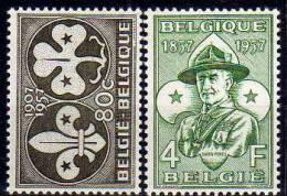 Belgique N° 1022 / 1023 Luxe ** - Belgique