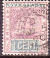British Guiana 1889 SG #193 1c VF Used Wmk Crown CA - Guyana Britannica (...-1966)