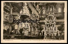 ALTE POSTKARTE SCHWEIDNITZ INNERE DER FRIEDENSKIRCHE 1925 Swidnica Schlesien Ceska Repulika Czech Republic Tschechien - Schlesien