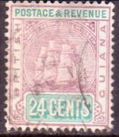 British Guiana 1889 SG #201 24c VF Used Wmk Crown CA - Guyana Britannica (...-1966)