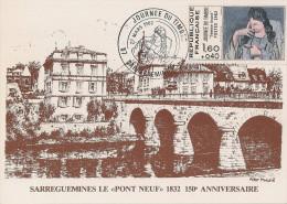 France - Carte Postale - Journée Du Timbre 1982 - YT 2205 - Sarreguemines - Stamp's Day