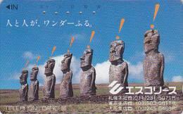 T�l�carte Japon - Arch�ologie Site CHILI - Ile de P�ques Moai - Easter Island Japan phonecard CHILE - 74