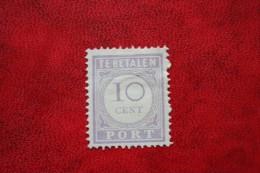 Port 10 Cent ; NVPH Nr: P22 22 ; 1913 MH / Ongebruikt SURINAME / SURINAM - Surinam ... - 1975